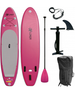 320 eXplorer SUP - Stand Up Paddle Surfboard I 320x76x15cm | pink